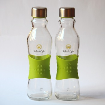 Nature's Cycle 500 ml glass drinking bottle