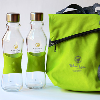 Two 500ml Glass Bottles and Cooler Bag